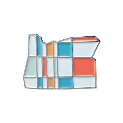 Oregon Mondrian | Enamel Lapel Pin