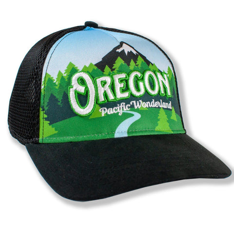 Oregon Pacific Wonderland Vintage 3D | Trucker Hat