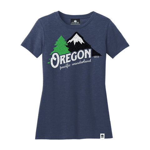 Oregon Pacific Wonderland Vintage | Women's Crewneck T-Shirt