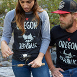 Oregon Republic | Unisex 3/4-Sleeved Raglan