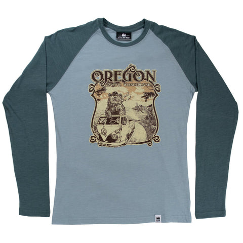 Oregon Coast Pacific Wonderland | Unisex Long-Sleeve Raglan t-shirt