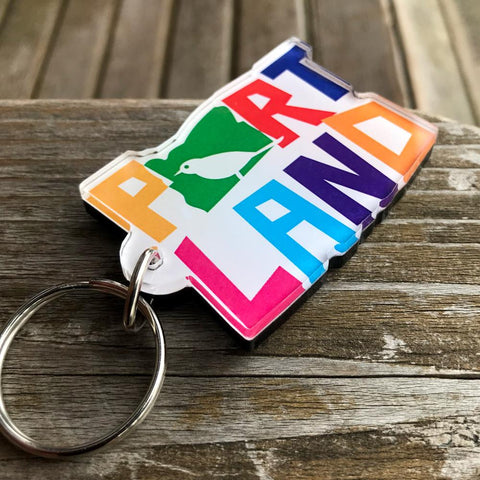 Colorful Bird Portland| Key Chain