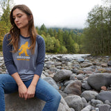 Squatch Out Oregon | Unisex 3/4 Sleeve raglan tee
