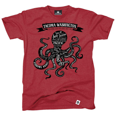 Tacoma Washington Octopus | Adult T-Shirt
