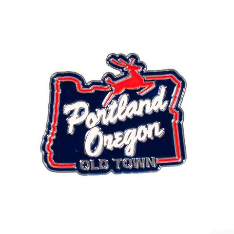White Stag Sign Portland Oregon | Enamel Lapel Pin