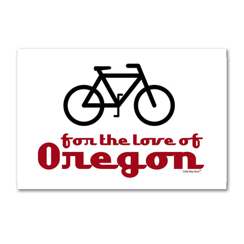 Bike for the Love of Oregon | Refrigerator Magnet