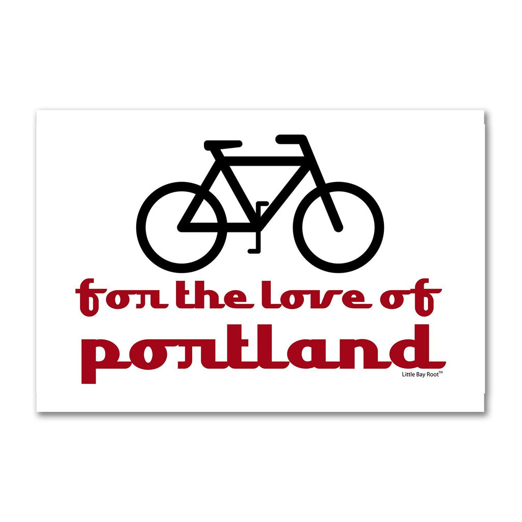 Bike for the Love of Portland | Fridge Magnet