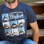 A Globetrotter's Guide to Bigfoot | Adult T- Shirt