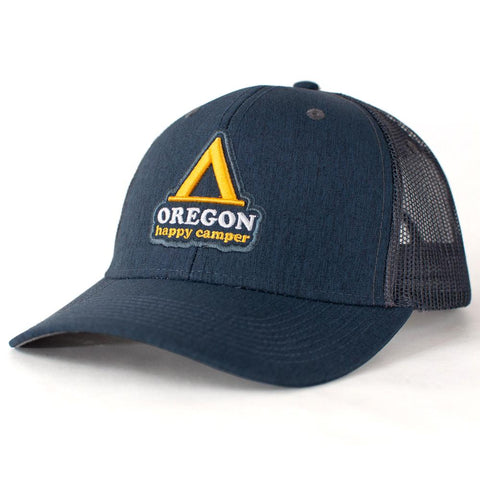 Happy Camper Oregon | Curved Bill Trucker Hat