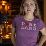 Heart Portland | Women's Crewneck T-Shirt