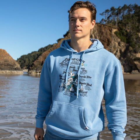 Oregon Lighthouses | Unisex Pullover Hoodie