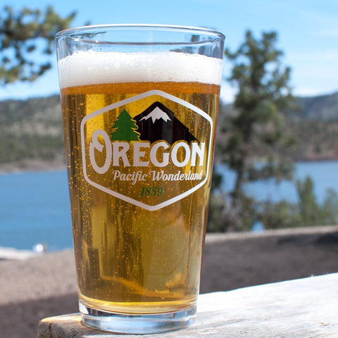 Oregon Pacific Wonderland Vintage | 16oz Pint Glass