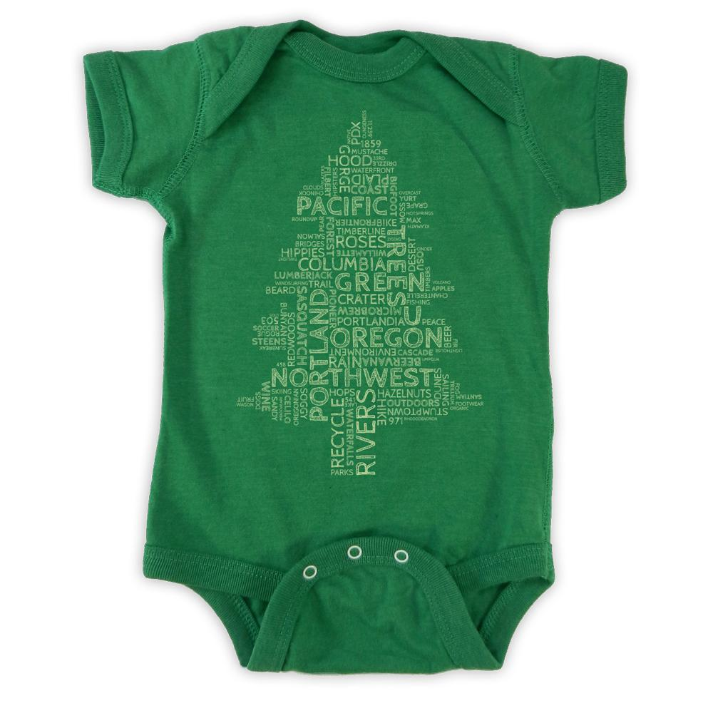 9f68b593a Oregon Word Tree | Infant Bodysuit