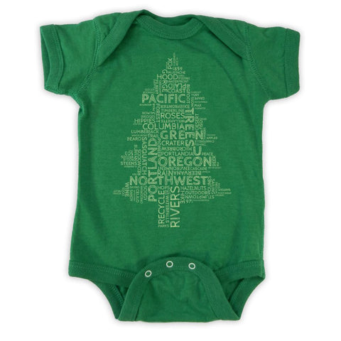Oregon Word Tree | Infant Bodysuit