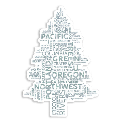 Oregon Word Tree | Sticker