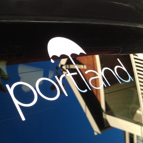 Portland Umbrella Sticker Decal