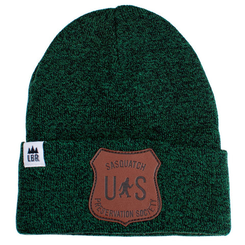 Sasquatch Preservation Society PU Leather | Knit Beanie