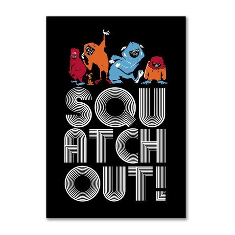 Squatch Out Dancers | Refrigerator Magnet