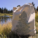 Oregon Word Tree | Large Tote