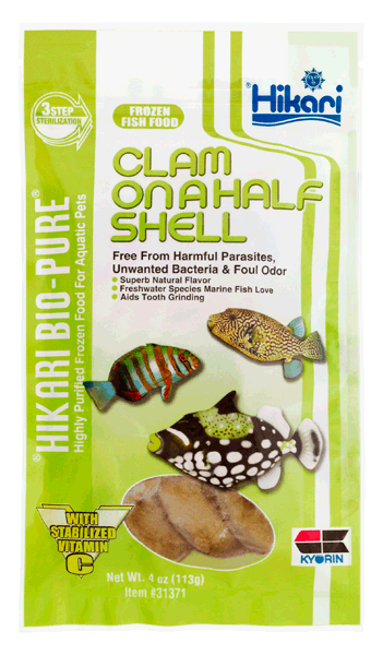 Frozen food - Hikari Clams on Half Shell