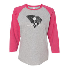 Local Ladies Cut Baseball Raglan Tee