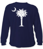 Classic Palm & Moon, Long Sleeve Shirt (navy)