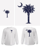 Classic Palm & Moon, Long Sleeve Shirt (white)