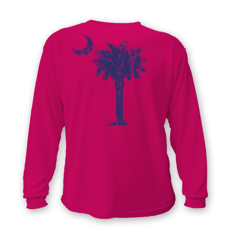 Copy of Classic Palm & Moon, Long Sleeve Shirt (Pink)
