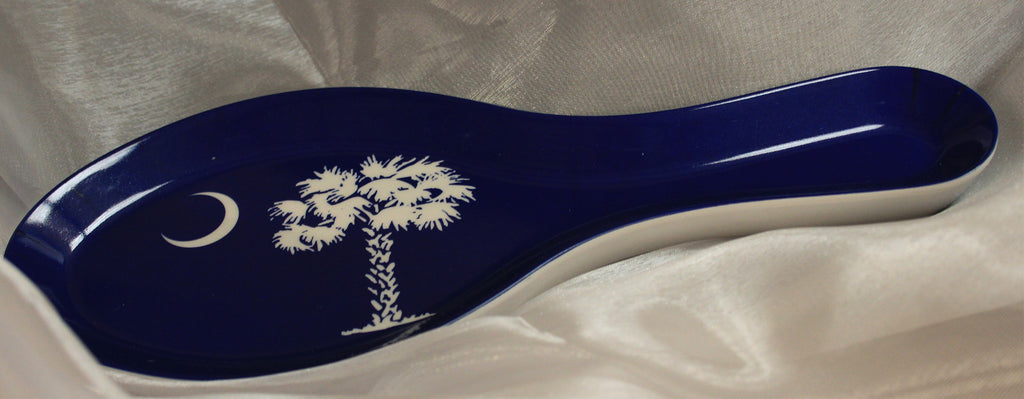 Palm & Moon Spoon Rest, navy