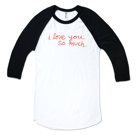 I Love You So Much Kids Baseball Tee