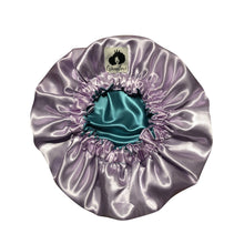 Load image into Gallery viewer, Lavender x Teal Adult Reversible Bonnet