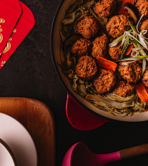 紅燒獅子頭(食譜影片) | Braised Meatball with Soy Sauce for Chinese New Year