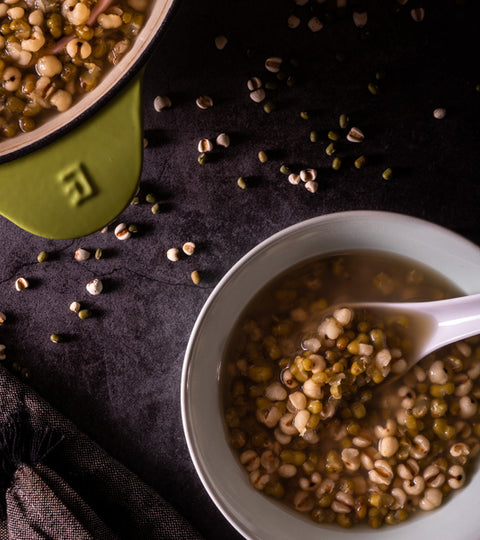 綠豆薏仁甜湯(食譜影片) | Sweet Mung Bean Soup with Pearl Barley