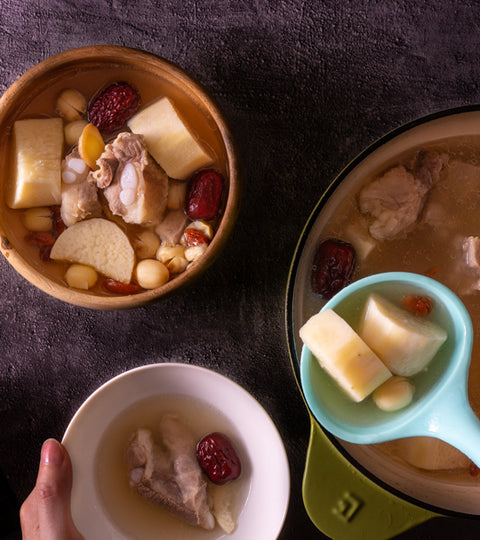 山藥蓮子排骨湯(食譜影片) |  Chinese Pork Rib Soup with Yam and Lotus Seed