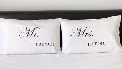 Mr & Mrs Personalised Pillowcases