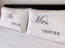 Load image into Gallery viewer, Mr & Mrs Personalised Pillowcases