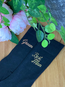 Groom ~ Bridal Party Personalised Socks