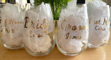 Load image into Gallery viewer, Bridal Party Wedding Glass Decals