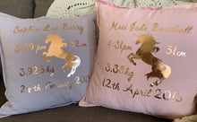 Load image into Gallery viewer, Personalised Unicorn Cushion