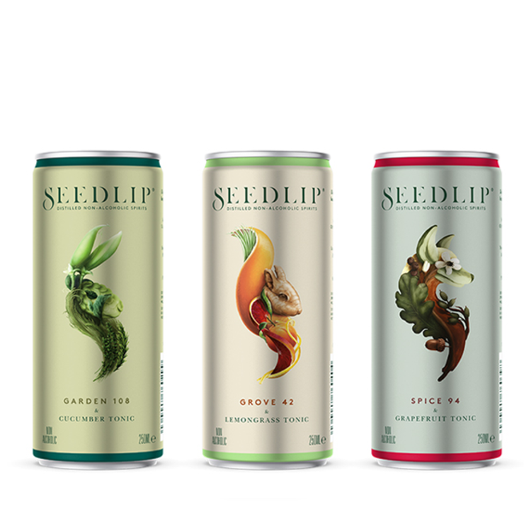 Seedlip Garden 108 & Cucumber Tonic Single Serve Cans (0% ABV)