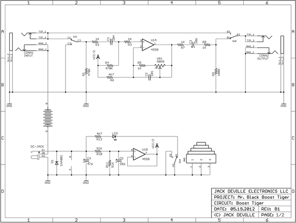 Boost Tiger Factory Schematic