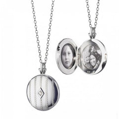 Monica Rich Kosann Baeded Center Locket