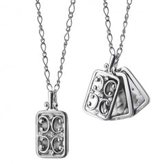 Monica Rich Kosann Rectangular Silver Gates Locket