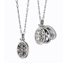 Monica Rich Kosann Sterling Silver Oval Gates Locket