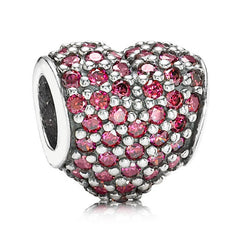 Pandora Pave Red Heart Bead