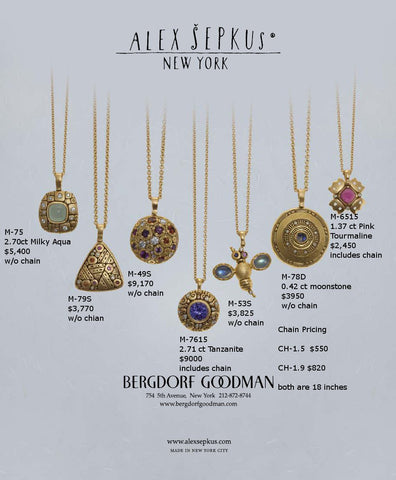 Alex Sepkus Bergdorf Goodman Jewelry Ad In The Ny Times