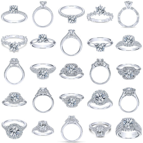 Just a few of the Amavida Diamond Engagement Rings at Ben Garelick