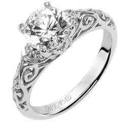 Artcarved Peyton Affordable Diamond Engagement Ring at BenGarelick.com