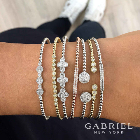 Gabriel Stackable Diamond Bracelets and Bangles