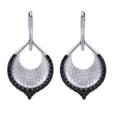 "Gabriel Sterling Silver and Black Spinel ""Byblos"" Earring $225"